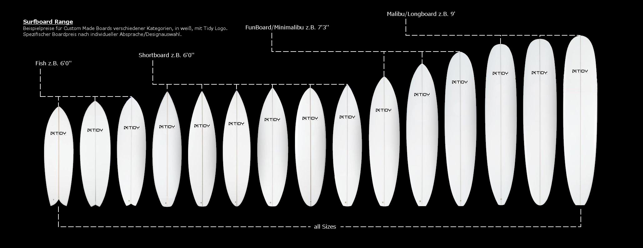 Surfboards-Übersicht-mit-Logo-und-Beschriftung ohne Preise